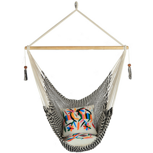 Large Hammock Chair in Zebra - Wholesome Habitat