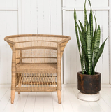 Malawi Cane Traditional Chair - 1 Seater in Natural - Wholesome Habitat