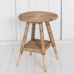 Malawi Side Table - Black, Natural or Dark Brown - Wholesome Habitat