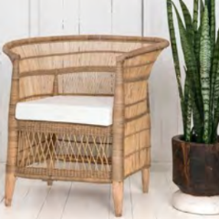 CUSHION for Malawi Cane Traditional Chair - 1 Seater - Wholesome Habitat