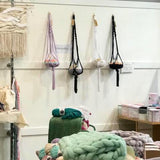 Macrame Plant Hanger with T-Shirt Yarn - 10 Colours - Wholesome Habitat