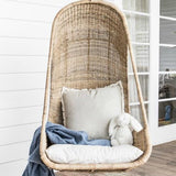 Malawi Cane Hanging Egg Chair - Natural - Wholesome Habitat