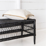 Malawi Cane Traditional Open-Weave Coffee Table/Bench - Wholesome Habitat