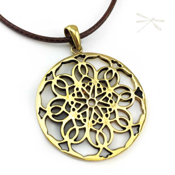 Polished Brass Love Mandala Soulful flower - Wholesome Habitat