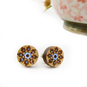 Mandala Snowflake Stud Earrings - Wholesome Habitat