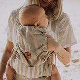 Natural Stripe Snap Baby Carrier - Wholesome Habitat