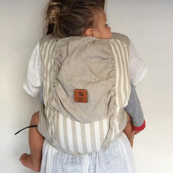 Natural Stripe Wrap Baby Carrier - Wholesome Habitat