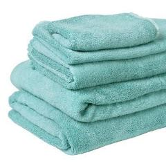 100% Organic Bamboo Bath Towel - Aqua Splash - Wholesome Habitat