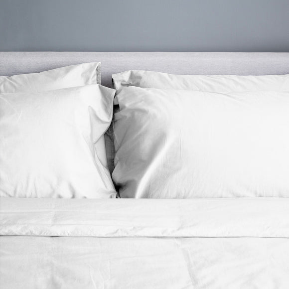 100% Organic Bamboo Quilt Cover Set - White - Wholesome Habitat