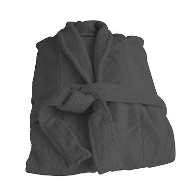 Organic Bamboo Bathrobe -Charcoal - Wholesome Habitat