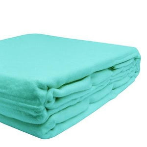 100% Organic Bamboo Blanket - Aqua Splash - Wholesome Habitat