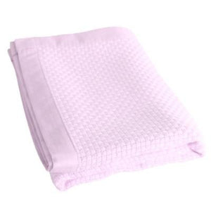 Organic Bamboo Cot Blanket - Light Pink - Wholesome Habitat