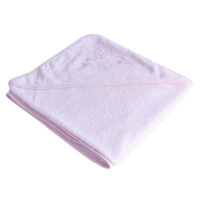 Organic Bamboo Hooded Towel - Light Pink - Wholesome Habitat