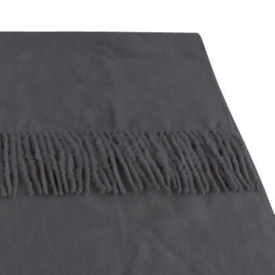 100% Organic Bamboo Throw Rug - Charcoal - Wholesome Habitat