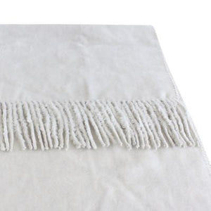 100% Organic Bamboo Throw Rug - Ivory - Wholesome Habitat