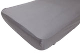 Organic Cotton Charcoal Fitted Sheet - Single - Wholesome Habitat
