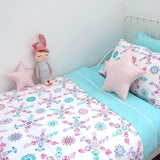 Organic Cotton Doll Picnic Doona/Quilt Cover Set - Single - Wholesome Habitat