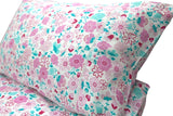 Organic Cotton Fairy Garden Floral Doona/Quilt Cover Set - Single - Wholesome Habitat