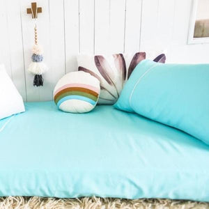 Organic Cotton Seafoam Sheet Set - Single - Wholesome Habitat