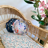 Organic Cotton Bassinet Fitted Sheet - Woodland Floral - Wholesome Habitat