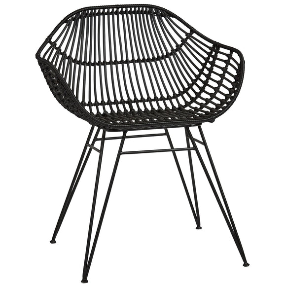 Palm Springs Safari Chair Black - Wholesome Habitat