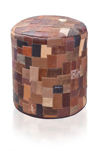 Recycled Leather Ottoman