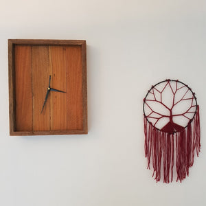 Reclaimed Hardwood Timber Wall Clock - Raw - Wholesome Habitat