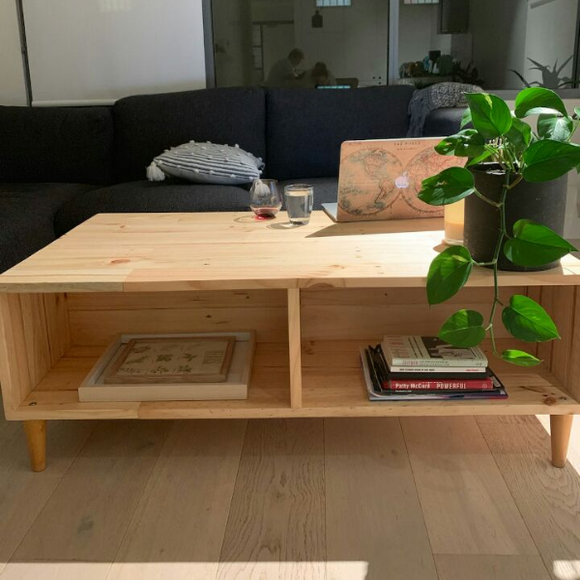 Reclaimed Timber Coffee Table - Wholesome Habitat
