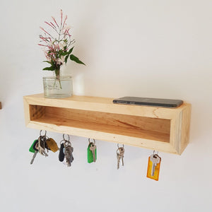 Reclaimed Timber Magnetic Key Holder - Wholesome Habitat