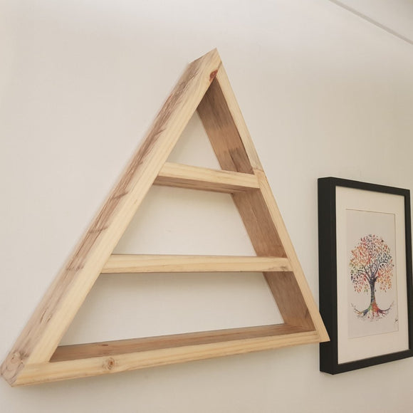 Reclaimed Timber Triangle Display Shelf - Wholesome Habitat