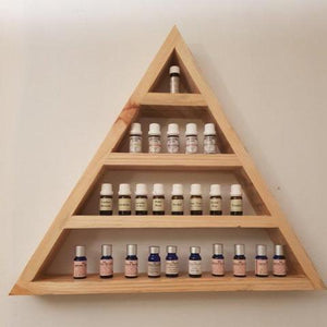 Reclaimed Timber Triangle Essential Oil Shelf - Wholesome Habitat