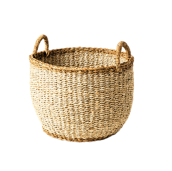 Sea Grass Basket Natural - Large - Wholesome Habitat