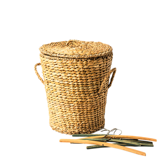 Seagrass Small Storage Laundry Basket - Wholesome Habitat