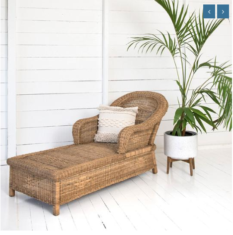 Malawi Cane Classic Lounger - Wholesome Habitat