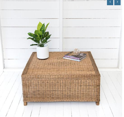 Malawi Cane Classic Coffee Table - Wholesome Habitat