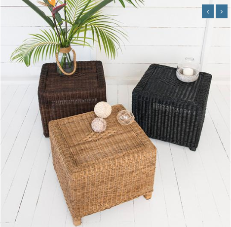 Malawi Cane Classic Side Table - Wholesome Habitat