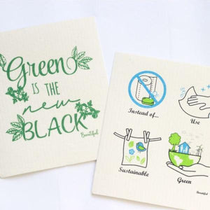 Swedish Biodegradable Dishcloth - Eco Prints 2 Pack