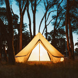 The Nomad 3m Canvas Bell Tent - Wholesome Habitat