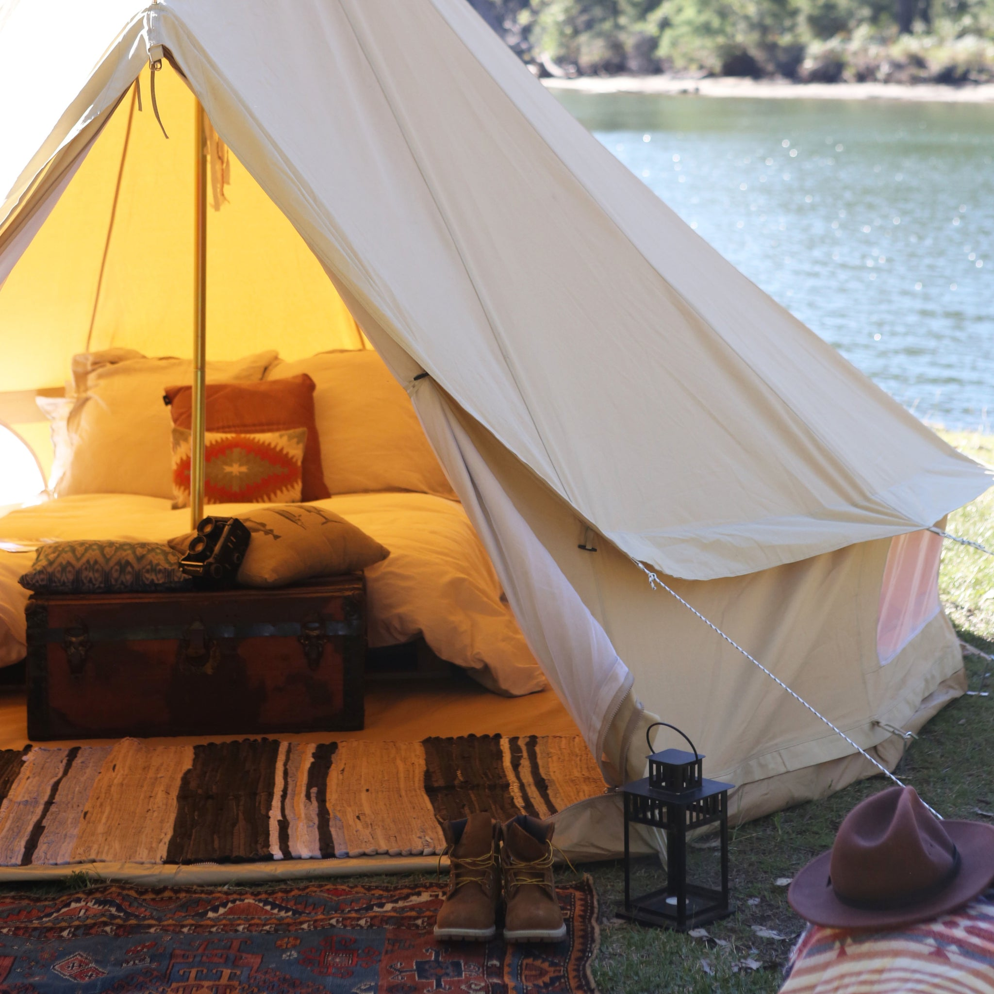 ... The Nomad 3m Canvas Bell Tent ... & The Nomad 3m Canvas Bell Tent u2013 Wholesome Habitat