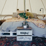 The Odyssey 5m Canvas Bell Tent - Wholesome Habitat
