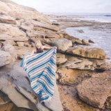 Wayfarer Hand Woven Camp and Picnic Rug Ocean