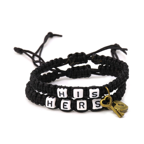His And Hers Bracelet With A Lock