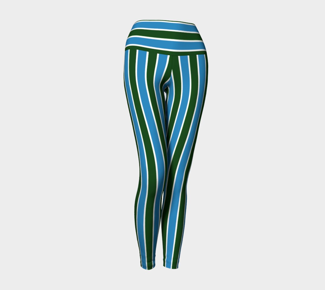 Team Green & Blue Yoga Pants
