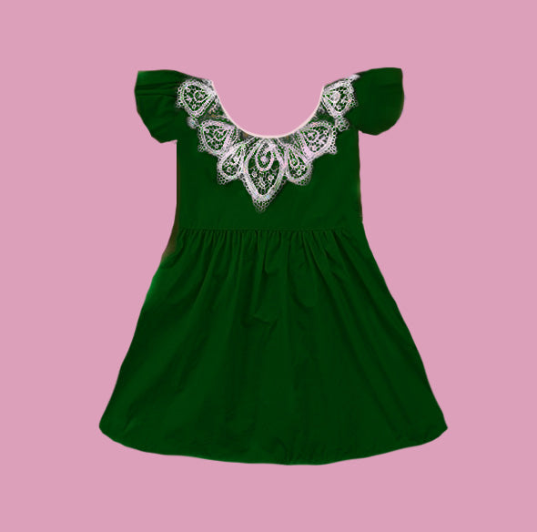 Lace Vintage Style Dress - green