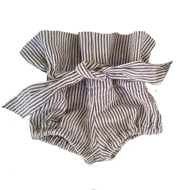 Highwaisted Linen Bloomers (stripe)