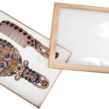 Peacock-Design Hand Mirror & Comb (Pack of: 1) - 206-1343-YX