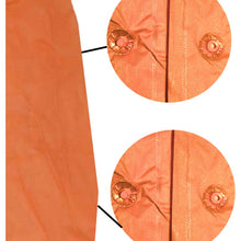 Vinyl Orange Poncho, 10 Mil (Pack of: 1) - RAIN-90509
