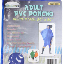 Vinyl Blue Poncho, 10 Mil (Pack of: 1) - RAIN-49050