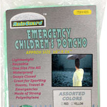 Children Emergency Poncho (Pack of: 4) - RAIN-19053-Z04