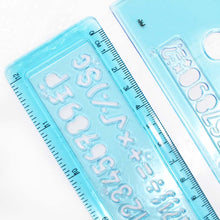 2 Piece Number, Letter and Shape Rulers (Pack of: 1) - CR-90459